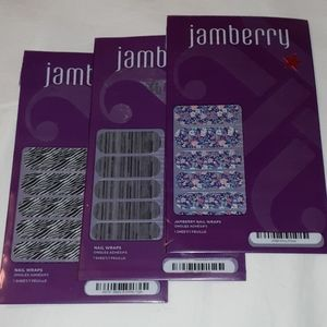 3 NEW Packs of Retired Jamberry Nail Wraps Tiger +